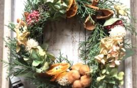 森の香りのクリスマスリースサンプル
