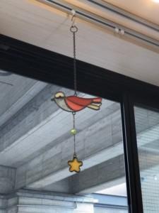小鳥のステンドガラス