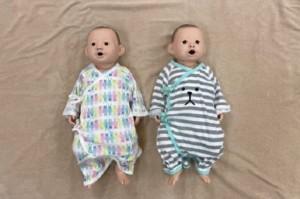 両親教室で使用する赤ちゃん人形の画像